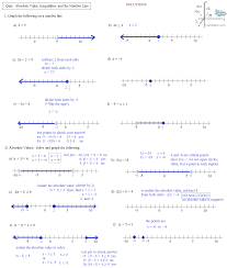 absolute value inequalities worksheet with answers