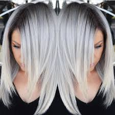 Stunning Multidimensional Silver Hair Color Design