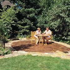 Outdoor Brick Paver Patio Designs Build A Stone Patio Or Brick Patio