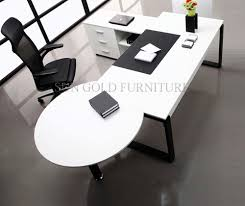 round office desks modern white simple high quality manager executive with vice round table office