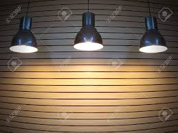 Fish Eye View For Black Ceiling Lamps With Yellow Lights On The