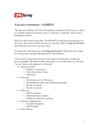 Sample Executive Summary Example Executive Summary Examples Apa
