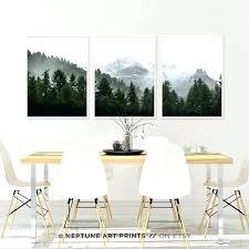three piece wall art three piece wall art set of 3 landscape art green forest printable