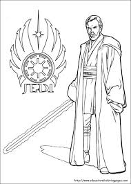 Small Picture Obi Wan Kenobi Star Wars printable coloring page Star Wars