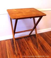 vintage wooden tv trays with stand dark wood tray tables sets target set folding table stands