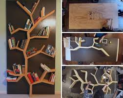 Make your very own DIY modern wood tree bookshelf that's just under 8 feet  tall.