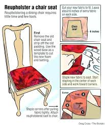 how to reupholster a dining room chair seat and back best fabric for dining room chairs
