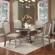 regency park round pedestal dining room set in platinum by avalon furniture home gallery s