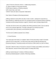 Business Letter Format Word Business Letter Of Intent Sample Format Word Doc