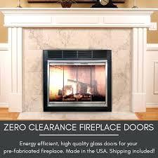 majestic modern fireplace doors glass door