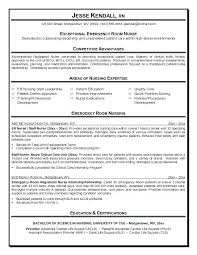 Nurse Resumes Examples Sample Resume Sample Er Nurse Resume Example