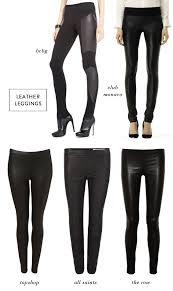 cozy winter uniform leather leggings