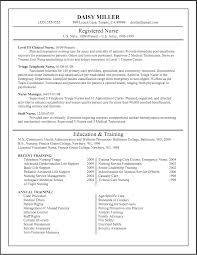 Template Registered Nurse Resume Example Sample Nursing Resumes