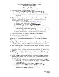 Resume help highschool student resume writing worksheet