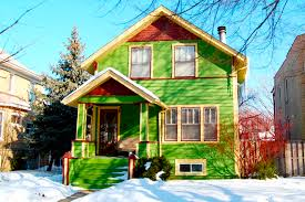 green exterior house paint10 Wacky Exterior Paint Photos That Will Shock You Blend Into the