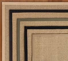 color bound natural sisal rug swatch