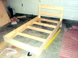 wooden bed rails