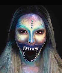 deep sea mermaid halloween makeup tutorial