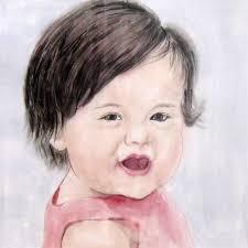30x30cmcustom portrait child s portrait children s personalized original hand drawn portrait from your photo ooak watercolor painting ideas gift