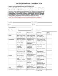 Powerpoint Presentation Evaluation Form 5 Printable Powerpoint Presentation Evaluation Form Templates