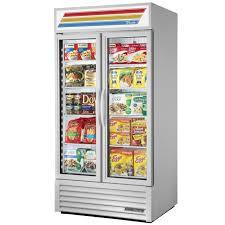 true gdm 35f tsl01 glass door freezer merchandiser sliding door 35 cu ft