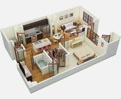 D Floor Plan Studio Apartment Floor Plans And Pricing Amalfi - Studio apartment floor plans 3d