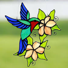 suncatcher stained glass hummingbird stain ornament on patterns beginners