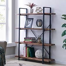 industrial furniture style. Homissue 4-Tier Industrial Style Bookshelf, Wood Metal Bookcases Furniture  Collection, Retro Brown Industrial Furniture Style U