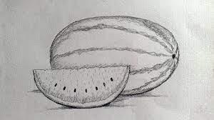 Tập vẽ Dưa hấu bằng bút chì. How to draw watermelon - YouTube