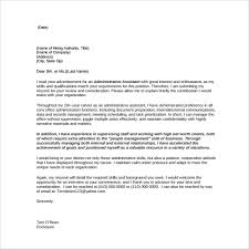 Office Administration Cover Letters Sample Office Assisant Cover Letter 6 Free Documents In Pdf