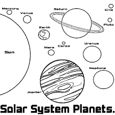 Solar System Coloring Book Planets Coloring Book Solar System ...