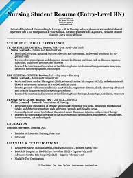 Nursing Student Resume Examples Musiccityspiritsandcocktail Com
