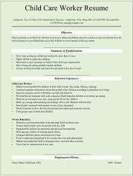 Resume For Child Care Warpridesharing Com