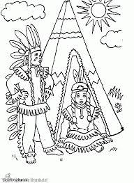 Kleurplaten Indianen Kleurplaten Kleurplaatnl