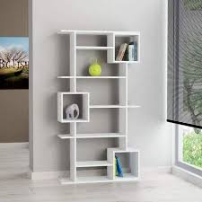 White modern bookshelf Amazon Buy White Colour Modern Contemporary Bookshelf Unique Bookcase Soto Design By Modern Furniture Deals Selectwineinfo Up To 70 Off Bookcases