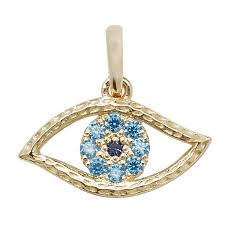9ct gold evil eye pendant hockley