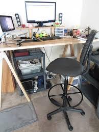 image of best standing desk stool