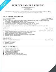 Welder Resume Best Sample Resume For Welder Supervisor Together With Welding Resume