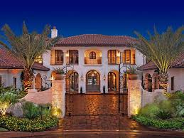 exterior colonial house design. Spanish Style House Exterior Design Front Yard Landscaping Ideas Colonial