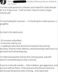 Go Resume Mesmerizing I Received 48 Resumes And Didn't Read A Single One ThatHappened