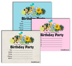 Free Printable Safari Birthday Invitations Free Printable Safari Birthday Invitations