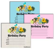 Safari Party Invitations Free Printable Safari Birthday Invitations