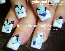 Cute Polar Bear & Penguin Nails | Winter Nail Art Design Tutorial ...