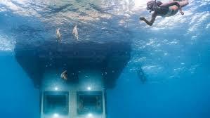 underwater hotel room at night. Underwater Hotel Room At Night