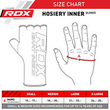 Hand Gloves Size Chart Rdx Products Size Charts Measurement Guide