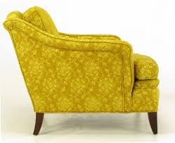 american 1940s on tufted club chair in gold damask for