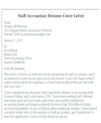 Staff Accountant Cover Letter Examples – Manuden