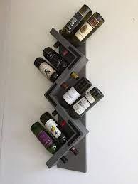 rustic wine rack wall mounted zig zag