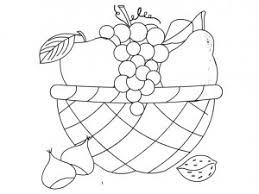 fruit basket coloring page 300x225 cartoon fruits coloring pages crafts and worksheets for on coloring pages of fruits in a basket