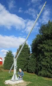 build a 25 50 free standing tilt then crank up tower antenna